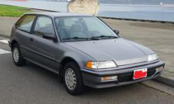 1991 honda civic hatchback 5 speed 40hwy/28in town mpg one owner 118k it was owned by a 85year old, got all the service records form when it was new , runs and drives like new