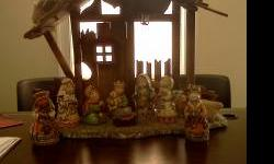 For Sale 10pc Nativity Set Hand Painted, Working Light, Beautiful Set!! Each figurine has the original price sticker on bottom. Figurines retail for $24.99 each, will sale set for $100.00 firm! 864-35