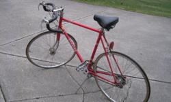 10 Speed Japanese Made SCHWINN Approved Chicago LE TOUR II Red Racing Bike Vintage is in excellent condition having been in storage since purchase. see attached pictures of details.