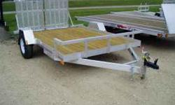 """12' x 82"""" Loadmaster Utility Trailer Aluminum Frame 3500lb Spring Axle NEW ST235/75R15 Tires and Rims 2"""" Treated Pine Deck 1 Leg Jack 2"""" Ball Coupler DOT Approved Lights and Safety Equipment Perfect f"""