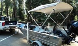 Please call owner Roger at  or . Boat is in Placerville, California. Motor has very low hours, added trolling motor, three batteries, Panther hydraulic tilt, Elite 7 fish finde