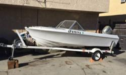 Please call owner Chris at . Boat Location: Long Beach, California. I am selling my beautiful 1969 Reinell fishing boat. It has a 2003 Honda 50HP 4 Stroke motor. All service records on file, Pink slip in hand for boat and trailer. Trailer completely