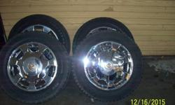 "All Four Matching 16 "" All Chrome Cadillac Rims & CapsTires no good300.00 OBO Whole setCall now 702752XXXX"