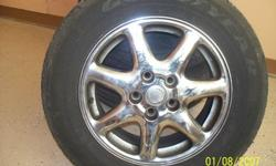 """2000 16"""" Cadillac Sts Chrome Rims & Tires 235/60/16""""In Really Great condition$300.00 Whole Set OBOCall And Ask For Tony"""
