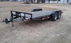 Brand New 14K Trailer - $3,150.00 - Available in Red & Black This is a very well built, quality trailer. It is 16 foot with a dove-tail, STEEL DECK 14,000 LBS. G.V.W. Empty weight 2,900 LBS - 11,100 L