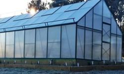 16x26 Poly Greenhouses by G-More  G-More Titan series are made w/a heavy duty aluminum greenhouse frame.  It has a smart slide-in assembly for easy construction.  Choose either a black or green powder