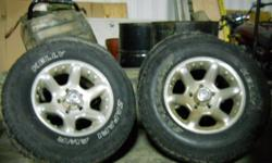 For Sale is a set of 4 17inch American Racing aftermarket rims that fit 94-01 (maybe more) 1/2 ton Dodge Ram trucks. These rims may also fit 5 bolt Fords and Chevy's as well, but that is for you to de