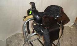 """17"""" Used Trail Saddle Leather used only a few times $150.00 We are the largest harness tack and carriage shop in the industry check us out at www.carolinacarriagesuperstore.com or call 864-252-5649 We"""