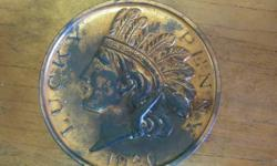 Classic souvenir coin. Oversized in stature. From Kansas City. You'll locate this and various others coins in our shop.  About Vintage Depot. We're a household possessed and operated antique site that