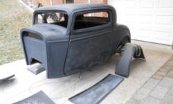 32 Ford 3 Window Coupe full fiberglass body kit. Speedway chase, with K member.NO Suspension. BODY DOORS TRUNK LID DASH BOARD BODY FLOOR RUNNING BOARDS FRONT & & REAR FENDERS ++ MORE If you are readin