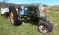 """1943 oliver 70 row crop """"warrior"""" model s/n 247017. 40"""" cast wheels, have some new parts to be installed, 12V conversion done, needs pto shaft, ran when parked.pls call bill @570-788-2243. no emails p"""
