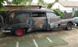 I HAVE FOR SALE A 1946 BUICK HIPPIE HEARSE BODY ONLY - NO RUNNING GEAR $ 800.00 (951) 787-9584 OR (951) 221-7960