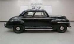 ``RARE`` !! 1946 Plymouth Special Deluxe - ``Club Coupe`` ..... Solid and excellent ``Driver`` !! 217 C.I. / 95 h.p. inline 6 cyl. engine/ 3 spd. trans. A straight panel car in Black w/ Tan interior.T