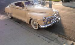 IF YOU HAVE INTEREST IN BUYING PLEASE REPLY WITH YOUR CELL PHONE# AND I CALL OR TEXT BACK FAST!!!1948 Plymouth Special Deluxe Convertible P15Make : PlymouthModel : Special DeluxeYear : 1948Trim : 2 do