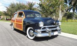 1951 Ford Country Squire Woodie Wagon Fully Restored RestoClassic styling with modern conveniences and reliability! The Country Squire woodie wagon is, arguably, the most desirable model Ford created