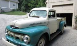 I was just given the unique opportunity to work with this true american classic and sell it to the next person who can enjoy it. This is a classic 1951 Ford F-3 One Ton Pick Up. It has a professional
