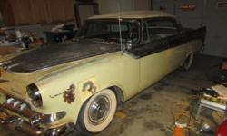 1955 Dodge Custom Lancer 4DR HT ..Project ..Odometer reads 29,080 ..Yellow & Black Paint ..Black & White Interior ..Super Red Ram V8 Engine ..Automatic Trans ..Dash Decent (needs detailed) ..Push Butt
