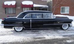 1956 Cadillac Fleetwood Limousine ..68,300 Miles ..365 V8 Engine ..Automatic Trans ..Engine Bay Clean & Bright ..Black Paint Beautiful ..Original 2-Tone Gray Interior ..Jump Seats ..Dash Looks Nice ..