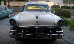 This 1956 Ford is truly one of a kind. It has a 427 Ford service block that has been repaired before I purchased it. The block was tested and has no problems. The compression is 9.5 to 1, the bore and