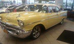 1957 Chevrolet Bel-Air 2 Door Sport Coupe, very low original miles, most highly documented in the world. Description should be as follows: We believe this 57 is possibly one of the most highly documen