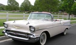 THIS IS THE KIND OF RESTORED 1957 CHEVROLET BEL AIR CONVERTIBLE THAT ENTHUSIASTS AND COLLECTORS DREAM OF FINDING!  THIS EXCEPTIONAL EXAMPLE CAME OUT OF THE ESTATE OF A COLLECTOR OF VERY FINE CONCOURS