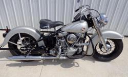 Make: Harley Davidson Model: Other Year: 1957 Condition: Used NEW FOURWHEELER FOR HUNTING USE SO I TOOK ON THE PROJECT. STARTING WITH A ALMOST PERFECT 57 FRAME (ONLY DEFECT TOOL BOX MOUNTING WAS PRO W