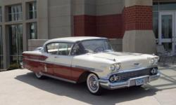 1958 Chevrolet Bel Air 2DR HT ..Original Color Red & White ..Paint Is New ..Original Tan Interior ..Stored last 20 Years ..Car Started Regularly ..A/C ..Power Steering ..Re-Built 283 V8 Engine ..New R