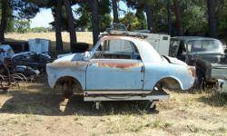 1958 Fiat Bianchina Cabriolet body, really cool little vehicle body to be restored, or developed into an art vehicle or rat rod. Front and rear suspension, no motor or trans. Exactly what ever you bui
