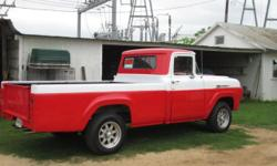 1960 F100 PICKUP HAS A 292 V8 REBUILT. NEW BRAKES, NEW TIRES, ORIGINAL DRIVE TRAIN, 4 SPEED ON THE FLOOR, RUNS GREAT. CAN DRIVE EVERYDAY. HAVE BLUE CLEAR TITLE. GREAT CONDITION. IT IS LICENSED AND REG