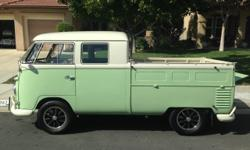 1960 VW Double Cab  It was fanatically well done and well kept and looks as showroom fresh as it was when it was first restored. A lot of NOS parts went into the restoration and the level of detail i