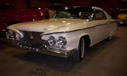 1961 Plymouth Fury Convertible, Restored Car, 318 Engine, Power Steering, Power Brakes, Push Button Automatic. Aero Steering Wheel. Paint, Interior and All Trim in Very Nice Condition. Part of a priva