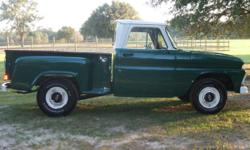 1964 Chevy C10 SWB, step side restored truck. Runs and drives excellent. Original 230 6 cylinder with 4 speed transmission in floor. All paint and body work approx. 2 years old. Painted inside and out