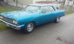 1964 Chevrolet Chevelle Malibu (OH) - $21,995 2 door, RWD, blue exterior with new black vinyl interior, automatic transmission, 283 V8 engine, power steering, power brakes, well maintained and garage