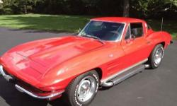 1964 Chevy Corvette Stingray for sale (MD) - $34,900. Recovered Corvette Stingray! Sweet apple red outside paint with black vinyl interior. Handbook 4 speed. 327 engine with 300 HP. Engine replacement