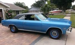 1966 CHEVELLE SS SUPER SPORT 138 VIN #. HAS A BALTIMORE TRIM TAG 11C. Construct date seems initial. Rear end cast date proper. 396 motor came out of a 1971 chevelle CLB motor 300 hp. Runs outstanding.