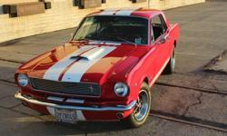 For Sale is a Show Stopping 1966 Mustang Shelby GT350 Tribute!Done Right With no Expense SparedMatching Numbers 289 V8 with under 70,500 OriginalMiles (Less than 4,000 Miles on Original Rebuilt Engine
