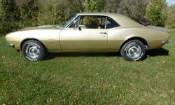 Selling my 1967 Camaro-- ****Light Gold Paint and Interior ****Alpine Stereo/CD with Amp ****New Brakes, New Tires, New Exhaust, New Front and Rear Suspension ****375 HP/ 327 Engine ****Frame Extensio