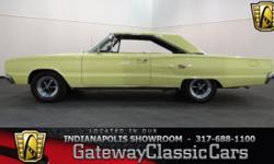 Stock#521NDY This vehicle is located in Carmel, IN. 14 miles north of downtown Indianapolis, IN  1967 Dodge Coronet RT ENGINE: 440 CID V8 4BBL BODY: 2DR TRANSMISSION: 3-Speed Automatic EXTERIOR COLOR: Yellow INTERIOR COLOR: Black MILEAGE: 67324 unknown