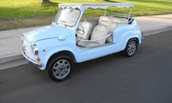 1967 Fiat 600 mod. JollyThe first Fiat 500 Jolly was produced by Ghia in 1958 for Gianni Agnelli to be added to his 82' yacht. Today's Jolly are all modified vintage cars still in existence with their