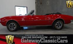 #5DFW Vehicle is located in the DFW Airport 817-310-9400 1967 Pontiac Firebird $30,995.00 ENGINE: 326 CID V8 TRANSMISSION: 4 Speed Manual MILEAGE: 90542 (Actual) BODY STYLE: Convertible EXTERIOR COLOR