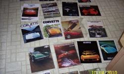 1968 - 1982 Corvette Sales Brochures $50.00ea. 1968 - 1977 Arm Rest Repair Covers $25.00pr, 1969 - 1976 Front Consol Side Panels $40.00pr. 1953 - 1977 Dealers Parts Manuals $45.00pr.