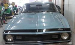 This 1968 Chevrolet Camaro, 48054 Canadian miles. It is Originally a Georgia car and is in Excellent condition: with new seat covers, carpets, headliners, package tray, dash pad, console and door pane