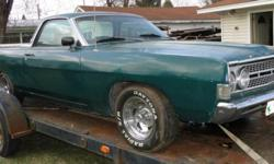 This Green Ranchero 500 has a solid body and is a great candidate for a restoration. Under the hood is ready to go with a new 302 engine with 4BBL carburetor, new transmission, new radiator and new br
