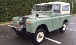 *Recently Reduced* This 1968 Landrover Series 2A Hardtop 88 is a true classic gem! This SUV features pastel green paint that is complimented by a green interior. It has a 4-cylinder engine that is mat