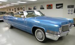 This 1970 Cadillac DEVILLE 2dr coupe Convertible functions a 472 8cyl engine. It is geared up with a Automatic transmission. The car is Blue with a Tan Full Leather interior. - Power Windows, Power Dr