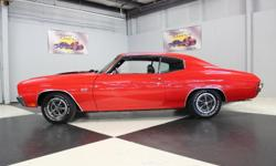 Stk#043 1970 Chevrolet Chevelle SS Has the Green title for car. Painted Red with Black SS stripes BC/CC with the front & rear bumpers replated. Original cowl hood, new door handles, tinted glass, stai
