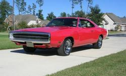 1970 Charger 500 SE, originally 383 (XP29L0G) but now with 440, auto, 3:23 sure-grip, SE package (charcoal leather), air conditioning (works), hood mounted turn signals, light package, drip rails, bel