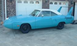 1970 PLYMOUTH ROAD RUNNER SUPERBIRD,U-CODE,WAS BORN B-5 BLUE WITH 440/375HP ENGINE AND AUTOMATIC TRANSMISSION WITH 3;23 REAR,ORIGINAL ENGINE AND TRANS IS MISSING ALONG WITH BOTH JACKS,SPARE AND A FEW