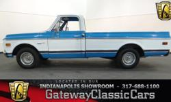 Stock#452NDY This vehicle is located in Carmel, IN. 14 miles north of downtown Indianapolis, IN 317-688-1100 1972 Chevrolet C10 ENGINE: 350 CID V8 BODY: Truck TRANSMISSION: 3-Spd Auto EXTERIOR COLOR: