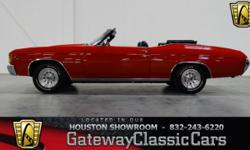Stock #257HOU Engine: 350 CID V8 Transmission: 3-Speed Automatic Mileage: 19,000 Since Rebuilt Body Style: Convertible Exterior Color: Red Interior Color: Black This vehicle is located in Houston, Tex